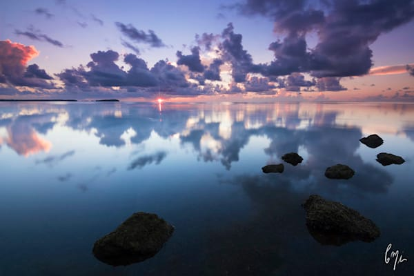 Constance Mier Photography - Biscayne Bay sunrise on rich photometallic fine art paper
