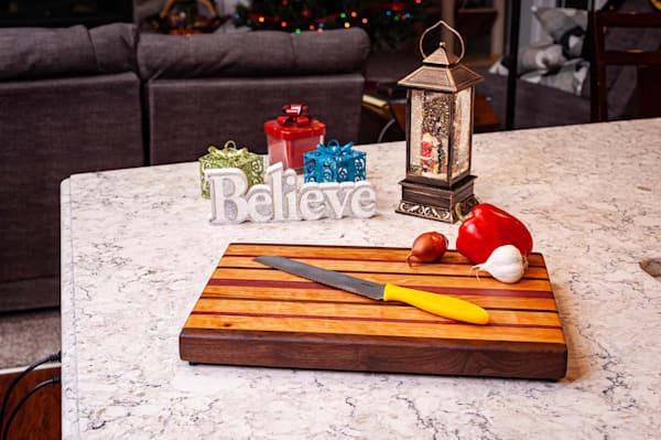 Cutting Board, 11x17, with Purpleheart, Cherry, & Walnut