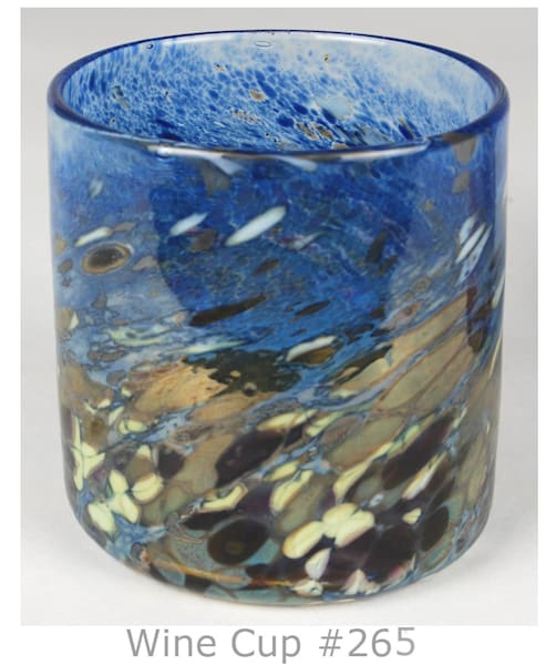 Wine Cup With Frit Decoration | Ed Pennebaker, Red Fern Glass