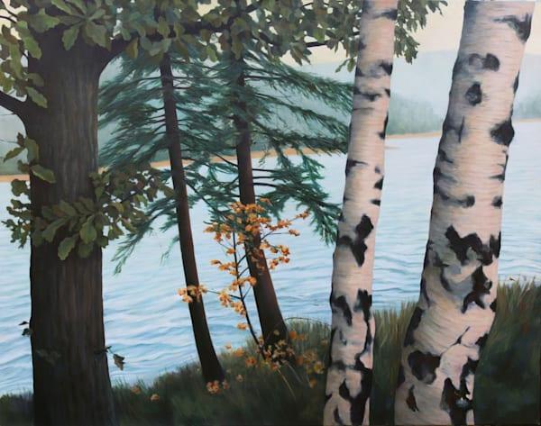 Five Trees By The River Art | Lidfors Art Studio