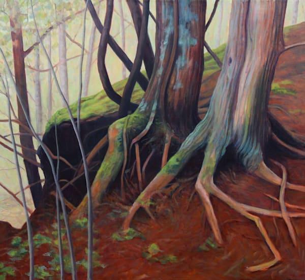 Tree Roots On The Hill   Original Painting Art | Lidfors Art Studio