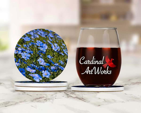 Blue Flax Coasters