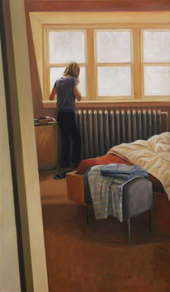 At The Bedroom Window   Original Painting Art | Lidfors Art Studio