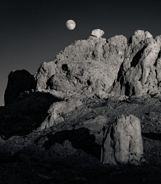 Moonrise Trona Pinnacles Photography Art | Dan Katz, Inc.
