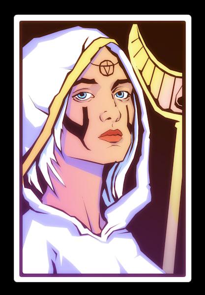 Healer Queen posing