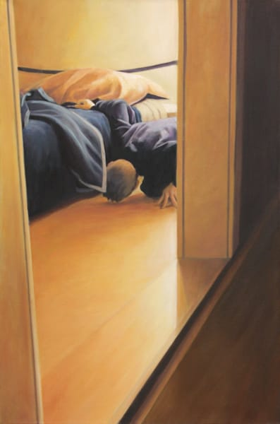 The Boy And The Bed   Nr. 2   Original Painting Art | Lidfors Art Studio