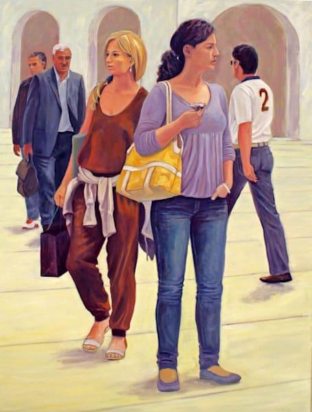 Pedestrians In Vienna   Nr. 2   Original Painting Art | Lidfors Art Studio