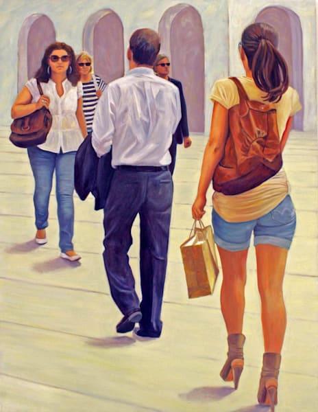 Pedestrians In Vienna   Nr. 3   Original Painting Art | Lidfors Art Studio