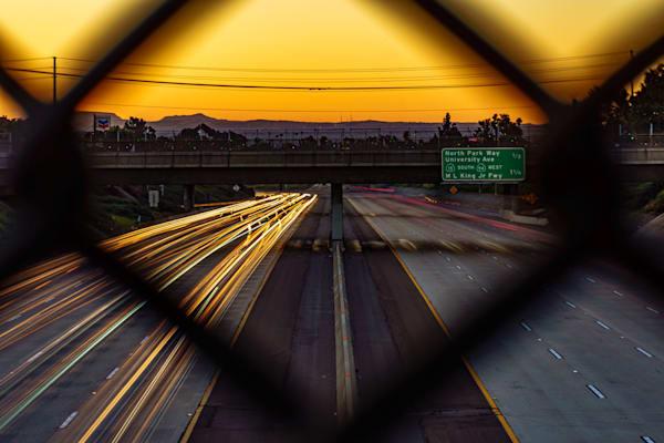 805 Freeway, San Diego Sunrise Fine Art Print by McClean Photography