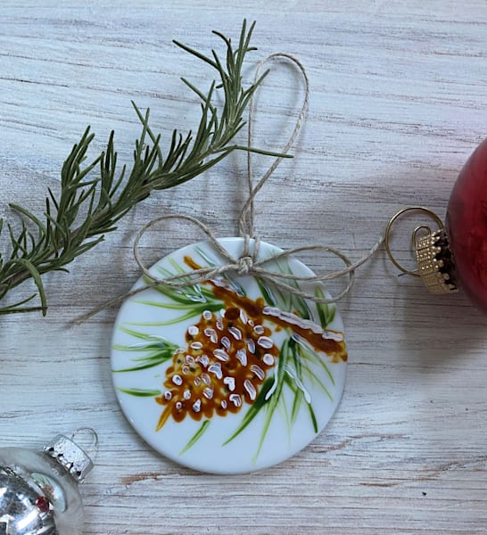 Pinecone Porcelain Ornament Art | Kristine Kainer