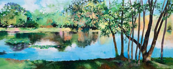 Pond & Trees Original Art