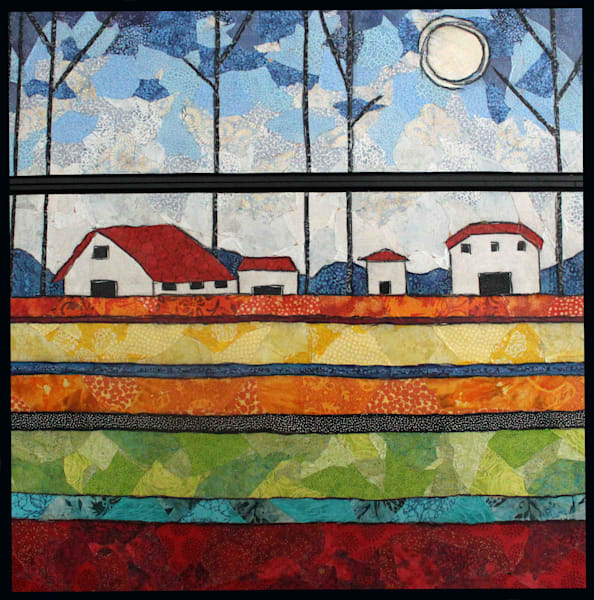 Farm House Diptych by Sharon Tesser