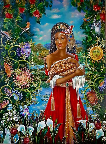 Pangolin Queen Art | miaprattfineart.com
