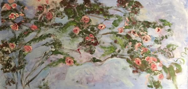 Monet's Roses   Original Sold But Available As Art Print Art | Scott Dyer Fine Art