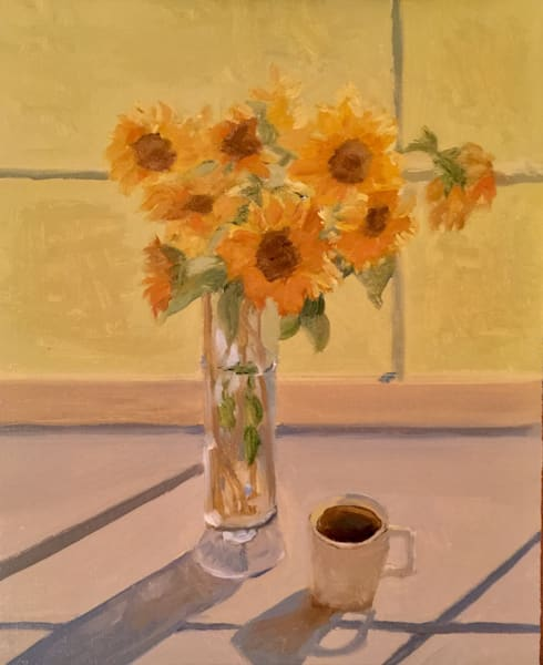 Morning Sunflowers   Original Sold But Available As Art Print Art | Scott Dyer Fine Art