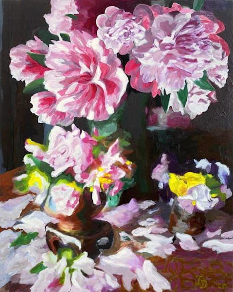 Still Life With Peony And Pansy | smalljoysstudio