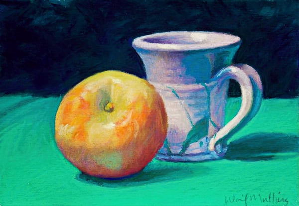 Apple And Cup  Art | Waif Mullins Art