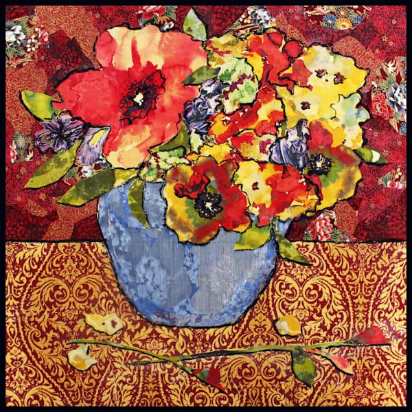 Blue Vase Still Life by Sharon Tesser