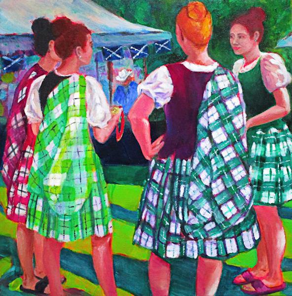 Dance Meeting Art   Lesley McVicar Art