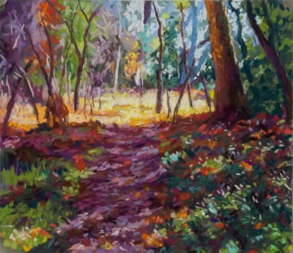 Autumn Pathway Art   Waif Mullins Art