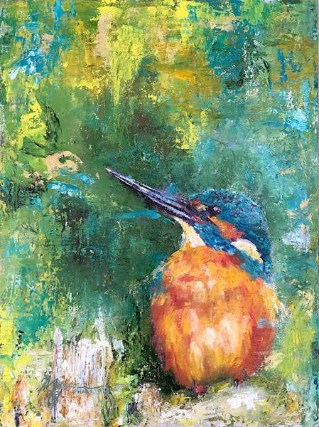Kingfisher I Art | Marian Pham Art LLC