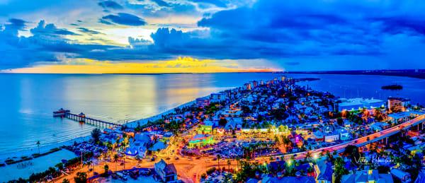 Ft Myers Beach2 Fl. Dusk Photography Art | vitopalmisano