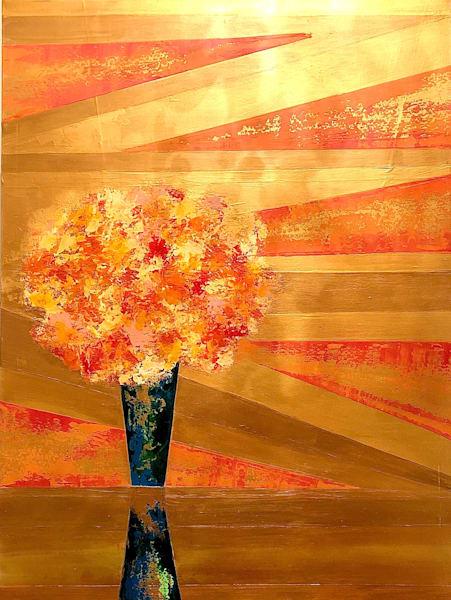 Golden Bouquet Art | benbonart