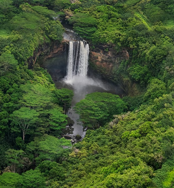 Above Wailua Falls Photography Art   Ed Sancious - Stillness In Change