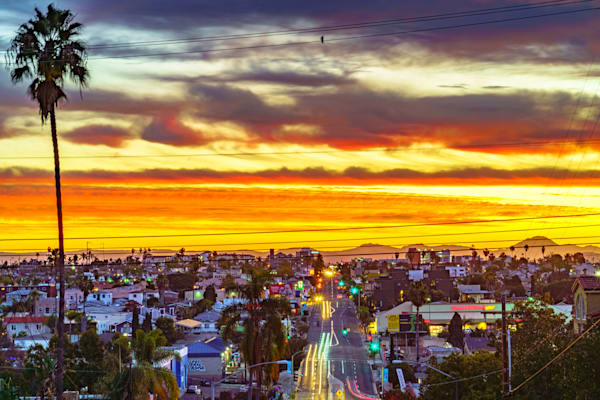 University Avenue, San Diego Sunrise Two Fine Art Print by McClean Photography