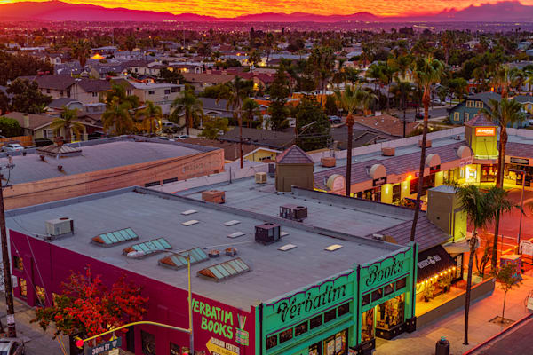 North Park, San Diego Rooftop Sunrise Fine Art Print by McClean Photography