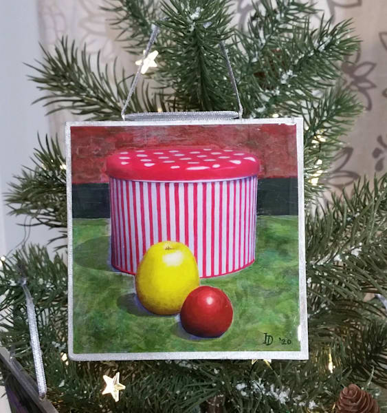 Ornament   Red And White Cookie Jar  | smalljoysstudio