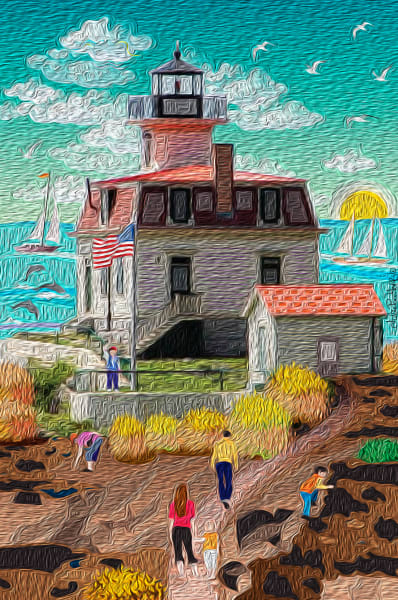 Escape to Battery Point Lighthouse in Northern California and feel the ambiance of color in the art prints.
