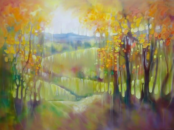 large Sussex autumn landscape with deer