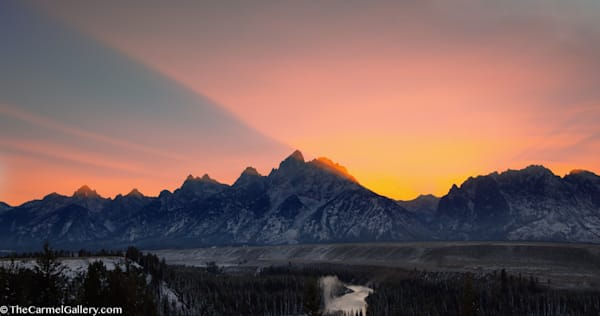 Teton Sunset Art | The Carmel Gallery