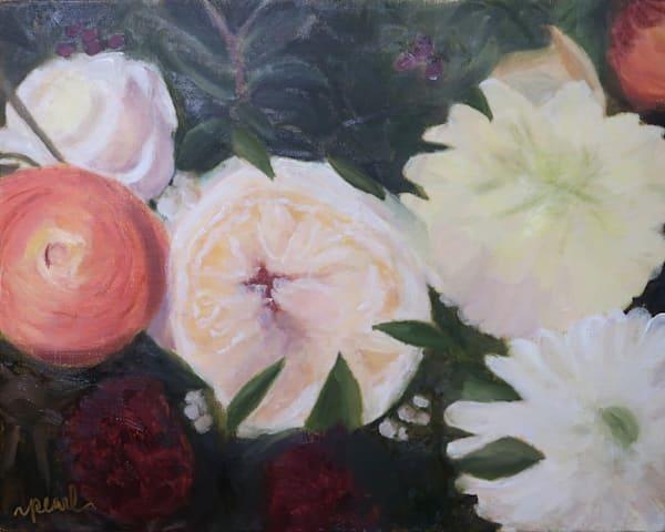 Autumn Bouquet Art   Pearl White Studio