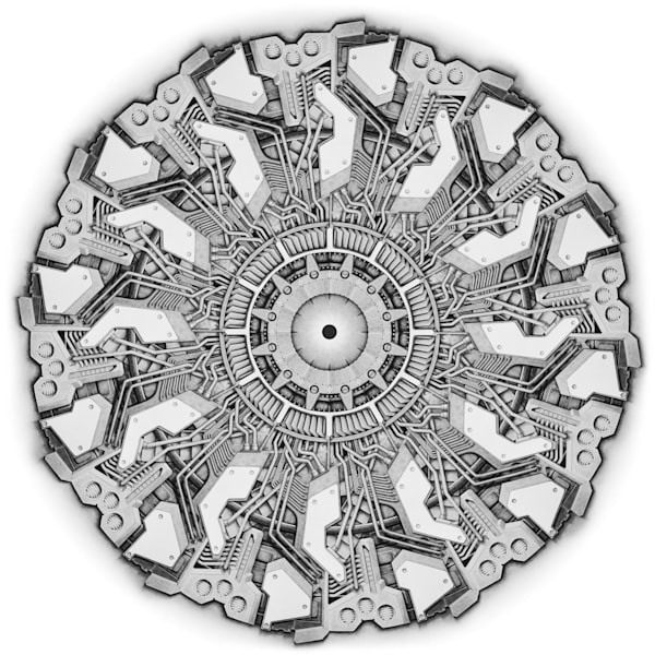 Tech-Mandala drawing