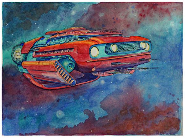 Mustang original painting