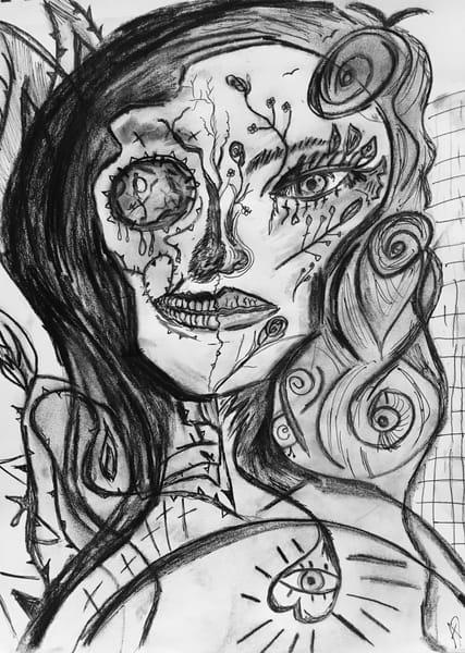 skull girl skeleton girl