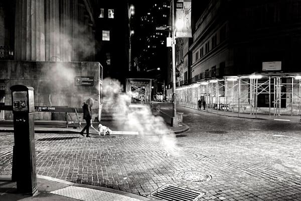 Wall Streer At Night Photography Art | LenaDi Photography LLC
