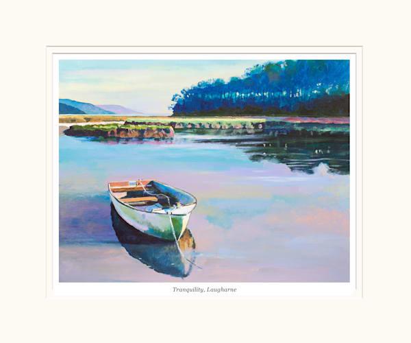 Laugharne Landscape Mounted Print