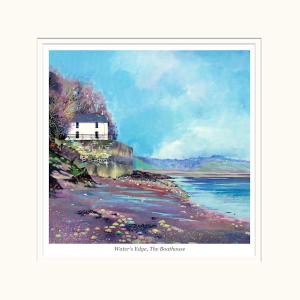 Laugharne Boathouse Print