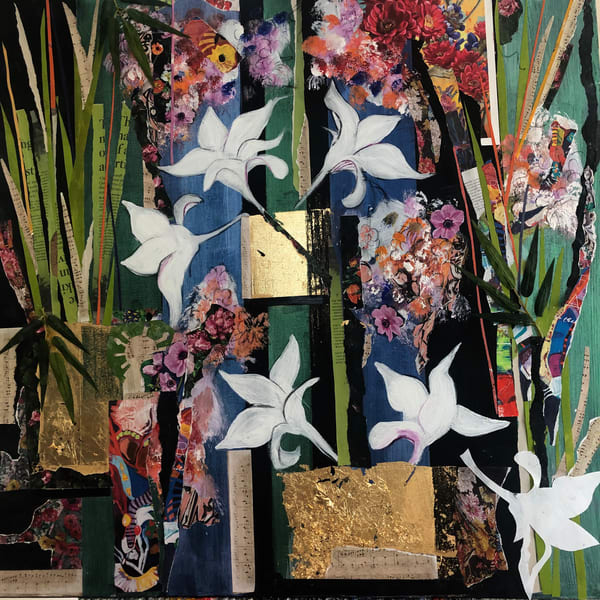 De Veuve Alexis Floral Symphony 36 X 36  Mixed Media And Collage Art | MardisArt