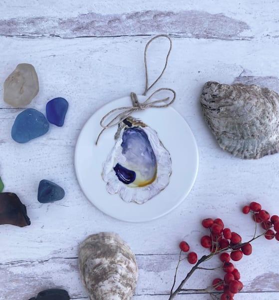 Oyster Shell Porcelain Ornament Art | Kristine Kainer