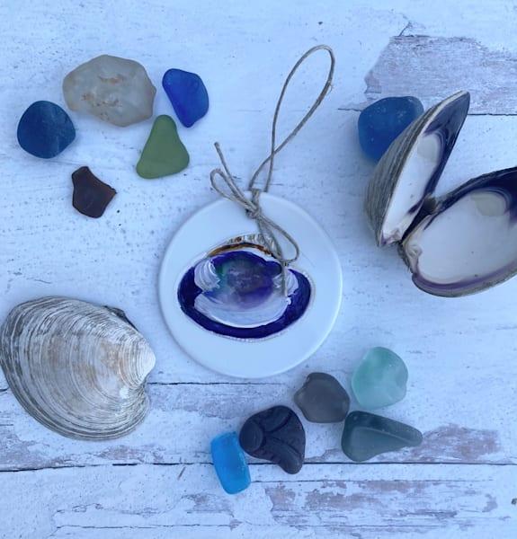Clam Shell Porcelain Ornament Art | Kristine Kainer