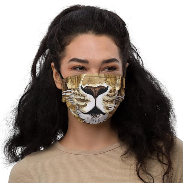 Lion Face Mask | Water+Ink Studios