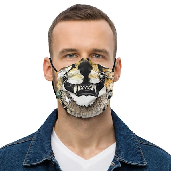 Cheetah Grin Face Mask | Water+Ink Studios