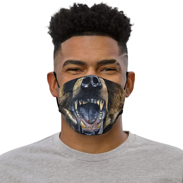 Grizzly Face Mask | Water+Ink Studios