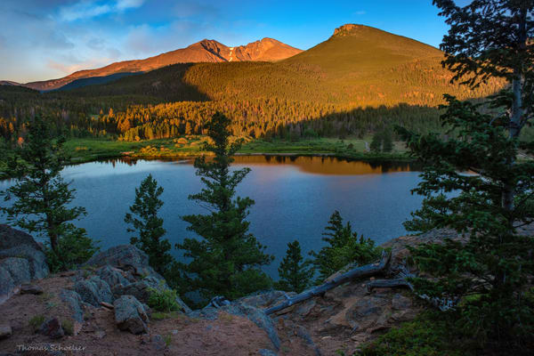 Rocky Mountain National Park Colorado fine art photography prints for sale | Lily Lake at Sunrise