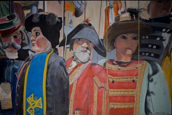 Sicilian Puppets Ll Art   Cera Arts