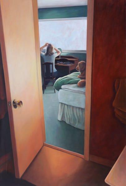 Dog On The Bed   Original Painting Art | Lidfors Art Studio